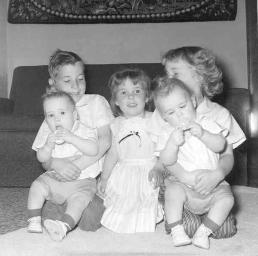 Jude, her brother and sister and the twins