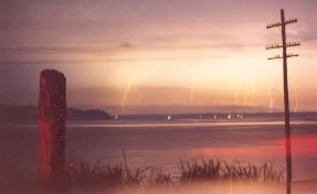 Electrical storm over Puget Sound