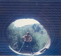 Probing a culvert near Silver City, Idaho