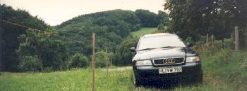 My Audi near Rothenburg ob der Tauber, Germany